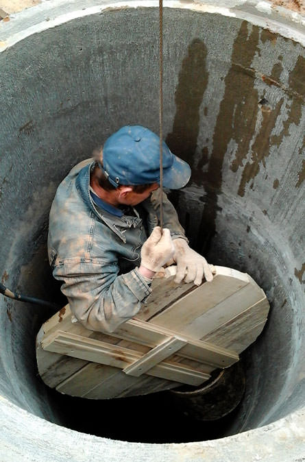 Как мы выполняем чистку колодца в Дубне