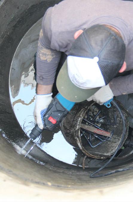 Как мы выполняем ремонт колодцев в Дубне